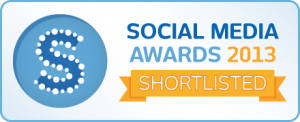 Social Media Awards 2013 Shortlisted
